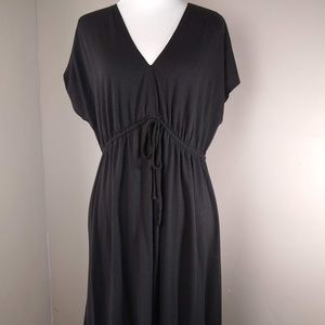 Faded Glory Short Sleeve Black Dress Ladies Medium